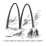 """""""I always thought the heavenly gates would be pearly, not golden."""" - New Yorker Cartoon Premium Giclee Print by Henry Martin"""
