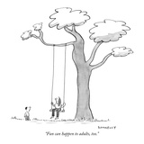 """""""Fun can happen to adults, too."""" - New Yorker Cartoon Reproduction giclée Premium par Liza Donnelly"""