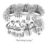 """You're doing it wrong."" - New Yorker Cartoon Premium Giclee Print by Frank Cotham"