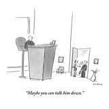 """""""Maybe you can talk him down."""" - New Yorker Cartoon Reproduction giclée Premium par Liza Donnelly"""