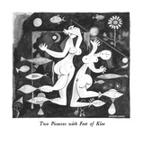 Two Picassos with Feet of Klee - New Yorker Cartoon Premium Giclee Print by J.B. Handelsman
