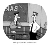 """""""Held up at work  You could have called."""" - New Yorker Cartoon Reproduction giclée Premium par J.C. Duffy"""