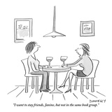 """""""I want to stay friends, Janine, but not in the same book group."""" - New Yorker Cartoon Reproduction giclée Premium par Liza Donnelly"""