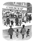 Toy store is called : Childcrap - New Yorker Cartoon Premium Giclee Print by J.B. Handelsman