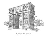 """So far so good.  Let's hope we win."" - New Yorker Cartoon Reproduction giclée Premium par Boris Drucker"