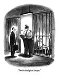 """I'm his biological lawyer."" - New Yorker Cartoon Premium Giclee Print by Frank Cotham"