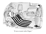 """It was a sweater when I began."" - New Yorker Cartoon Premium Giclee Print by Victoria Roberts"