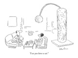 """I see you have a cat."" - New Yorker Cartoon Premium Giclee Print by Arnie Levin"