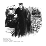 """There's no mention of an honorary degree for you here, Mr. Hubisch. Perha…"" - New Yorker Cartoon Premium Giclee Print by Carl Rose"
