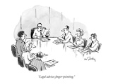"""Legal advises finger-pointing."" - New Yorker Cartoon Premium Giclee Print by Mike Twohy"