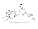 """Today you're going to bitch-slap some veal."" - New Yorker Cartoon Premium Giclee Print by Peter Mueller"