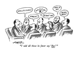 """""""I said all those in favor say 'Aye.' """" - New Yorker Cartoon Premium Giclee Print by Henry Martin"""