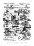 """""""Look sharp, everybody!  Here comes the athletic director."""" - New Yorker Cartoon Impressão giclée premium por Frank Cotham"""