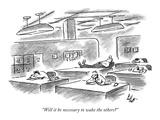 """Will it be necessary to wake the others"" - New Yorker Cartoon Impressão giclée premium por Frank Cotham"