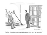 """Nothing from the governor, but I did manage to get you a tax extension."" - New Yorker Cartoon Premium Giclee Print by Danny Shanahan"