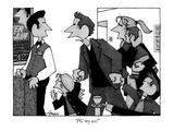 """PG my ass!"" - New Yorker Cartoon Premium Giclee Print by William Haefeli"