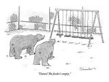 """Damn! The feeder's empty."" - New Yorker Cartoon Premium Giclee Print by Danny Shanahan"