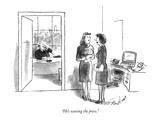 """He's wooing the press."" - New Yorker Cartoon Premium Giclee Print by Stan Hunt"