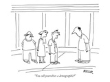 """You call yourselves a demographic"" - New Yorker Cartoon Premium Giclee Print by Peter Mueller"