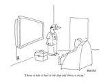 """I have to take it back to the shop and throw it away."" - New Yorker Cartoon Premium Giclee Print by Peter Mueller"