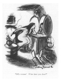 """""""Silly woman! What have you done"""" - New Yorker Cartoon Reproduction giclée Premium par Jr., Whitney Darrow"""