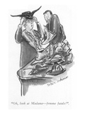 """Oh, look at Madame—femme fatale!"" - New Yorker Cartoon Premium Giclee Print by Helen E. Hokinson"