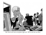 """""""Mr. Curtis can't come to the phone right now.  He's in the time-out chair."""" - New Yorker Cartoon Premium Giclee Print by William Haefeli"""