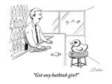 """Got any bathtub gin"" - New Yorker Cartoon Reproduction giclée Premium par Joe Dator"