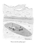 """""""That one looks like a falling engine."""" - New Yorker Cartoon Premium Giclee Print by Danny Shanahan"""