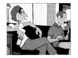 """""""When you say, 'I love you,' is it just to remind yourself"""" - New Yorker Cartoon Premium Giclee Print by William Haefeli"""