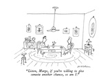 """""""Listen, Marge, if you're willing to give canasta another chance, so am I.…"""" - New Yorker Cartoon Premium Giclee Print by Michael Maslin"""