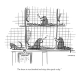 """I'm down to two hundred and sixty-three packs a day."" - New Yorker Cartoon Reproduction giclée Premium par Liza Donnelly"