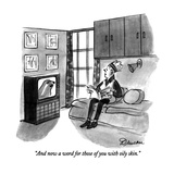 """And now a word for those of you with oily skin."" - New Yorker Cartoon Reproduction giclée Premium par Boris Drucker"