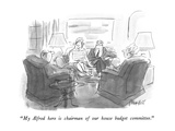 """""""My Alfred here is chairman of our house budget committee."""" - New Yorker Cartoon Premium Giclee Print by Frank Modell"""