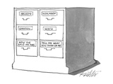 File drawers that sing the abc's. - New Yorker Cartoon Premium Giclee Print by Mischa Richter