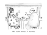 """Put another minnow on my line!"" - New Yorker Cartoon Premium Giclee-trykk av Victoria Roberts"