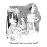 """Miss, could I have some, ah, just bread"" - New Yorker Cartoon Reproduction giclée Premium par Gahan Wilson"