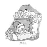 """He likes it."" - New Yorker Cartoon Reproduction giclée Premium par Gahan Wilson"