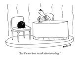 """But I'm not here to talk about bowling."" - New Yorker Cartoon Premium Giclee Print by Peter Mueller"