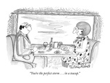 """""""You're the perfect storm . . . in a teacup."""" - New Yorker Cartoon Premium Giclee-trykk av Victoria Roberts"""