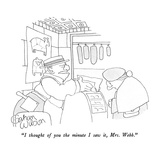 """I thought of you the minute I saw it, Mrs. Webb."" - New Yorker Cartoon Reproduction giclée Premium par Gahan Wilson"
