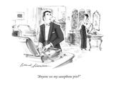 """Anyone see my saxophone pin"" - New Yorker Cartoon Premium Giclee Print by Bernard Schoenbaum"