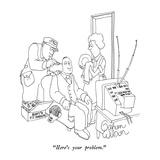 """Here's your problem."" - New Yorker Cartoon Reproduction giclée Premium par Gahan Wilson"