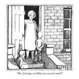 """Mrs. Jennings, can Billy come out and smoke"" - New Yorker Cartoon Reproduction giclée Premium par Matthew Diffee"
