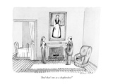 """And that's me as a shepherdess!"" - New Yorker Cartoon Premium Giclee-trykk av Victoria Roberts"