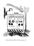 """""""School uniforms would be cool if we got guns, too."""" - New Yorker Cartoon Premium Giclee-trykk av Donald Reilly"""