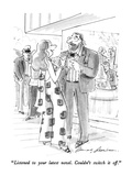 """Listened to your latest novel.  Couldn't switch it off."" - New Yorker Cartoon Premium Giclee Print by Bernard Schoenbaum"