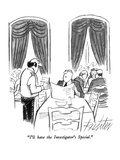 """I'll have the Investigator's Special."" - New Yorker Cartoon Premium Giclee Print by Mischa Richter"
