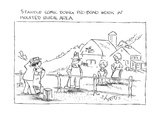 Stand-up Comic Doing Pro-Bono Work In Isolated Rural Area - New Yorker Cartoon Premium Giclee Print by Sidney Harris