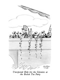 Unexpected Help for the Colonists at the Boston Tea Party - New Yorker Cartoon Premium Giclee Print by J.B. Handelsman